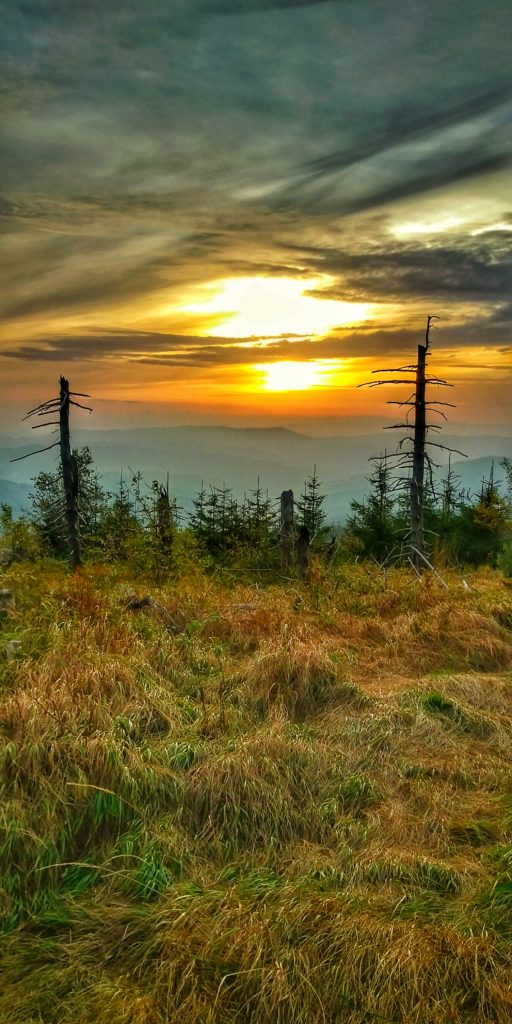 Malinowska Skała, październikowy zachód słońca