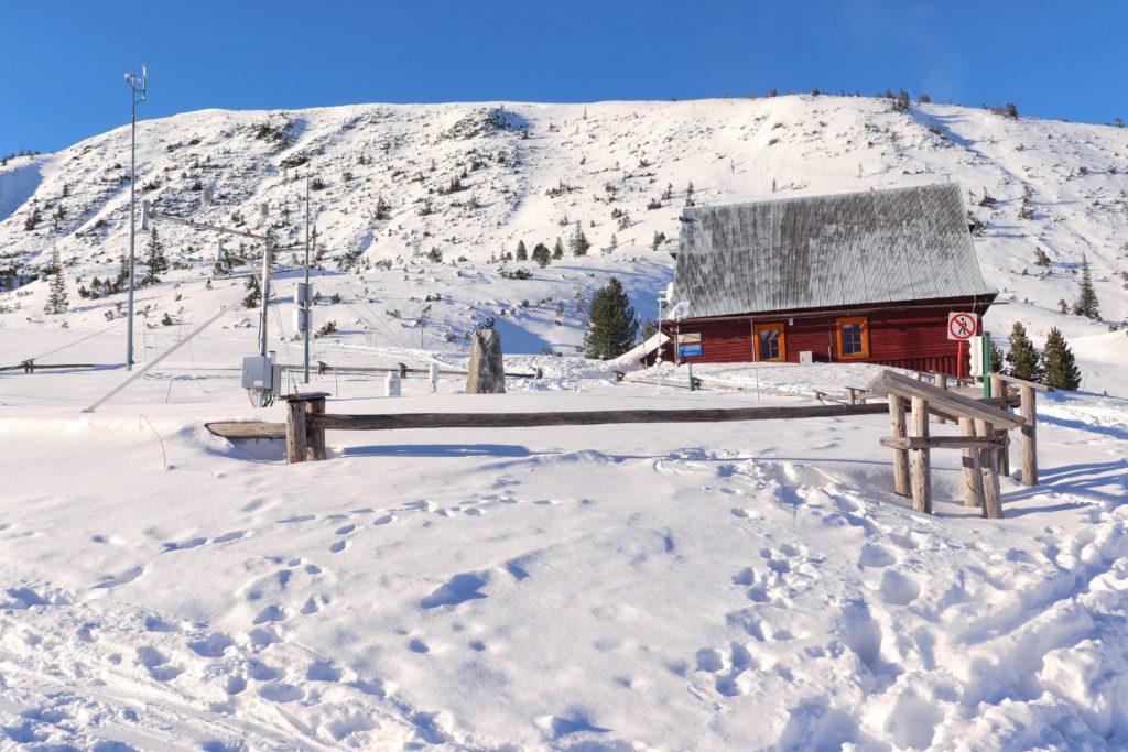 Stacja Meteorologiczna IMGW na Hali Gąsienicowej zimą